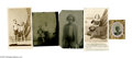 """Antiques:Black Americana, Images of Slave Children. A fine group of five photographs including a CDV of a supposed """"Redeemed Slave"""", Cassiopeia Lawren... (Total: 5 )"""
