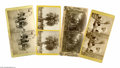 Antiques:Black Americana, Four Stereoviews of Black Life in Florida. An excellent group of four stereoviews including one of a horse-cart manned by a ... (Total: 4 )