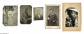 Antiques:Black Americana, Family Album of Tintypes and CDV Portraits and Carte by Nadar. Avery interesting group of images housed in the remnants of ...