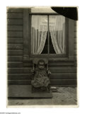"""Antiques:Black Americana, Lewis Heine Photograph of Black Child. A spectacular photograph, 5""""x 7"""", by renowned photographer Lewis Heine, of a black c..."""