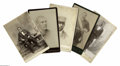 Antiques:Black Americana, Five Cabinet Cards of Blacks in Various Occupations. A collection of five cabinet cards including: a train conductor; a lodg...