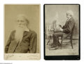 Antiques:Black Americana, Four Cabinet Cards of Prominent Abolitionists. A fine set ofcabinet cards including a portrait of Wendell Phillips (1811-84...(Total: 4 )