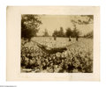 "Antiques:Black Americana, Black Man in a Hammock. A mounted photograph, 9.5"" x 7.75"", (12"" x 10"" overall), of a black field hand taking a break in a h..."