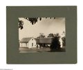 """Antiques:Black Americana, Photograph of a Farmhouse with Black Servants. A very crisp andvivid mounted photograph, 8"""" x 6"""", (12"""" x 10"""" overall), of a..."""
