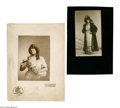 Antiques:Black Americana, Black Actress in Pre-Revolutionary Russia. A wonderful pair ofmounted photographs of an unidentified black actress with the...(Total: 2 )