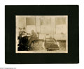 Antiques:Black Americana, Photograph of a Black Physician in his Office. A fantasticoccupational image, a mounted photograph of a black doctor atwor...