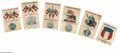 Military & Patriotic:Civil War, Set of Six Confederate Southern Rights Patriotic Cards printed in red and blue. From the early 1860s come these interesting ... (Total: 6 )