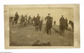 "Photography:Cabinet Photos, Buffalo Bill and General Miles at the Aftermath of Wounded Knee. This incredible albumen photo is 7.25"" x 4.25"" laid down to..."