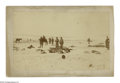 """Photography:Cabinet Photos, Original Albumen Photo of the Aftermath of Wounded Knee. A 7.25"""" x4.25"""" photo by George Trager mounted to an 8.5"""" x 5"""" card..."""