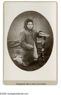 "Photography:Cabinet Photos, Nes Perce Indian Named ""Steps"" Cabinet Card albumen photo byBailey, Dix & Mead of Fort Randall, Dakota Territory. Issuedin..."