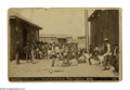 Antiques:Black Americana, Cabinet Size Card of Black Men Issuing Clothing to the Apache Indians in San Carlos, AR. This interesting photo taken someti...