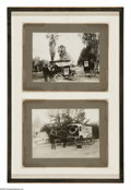 """Photography:Official Photos, Two Edison Motion Picture Show Albumen Photographs. 6.125"""" x 8.125"""". Lot of two pristine images depict not only the transiti... (Total: 2 )"""