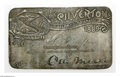 Transportation:Railroad, 1889 Silverton Railroad Pass This 1889 Otto Mears issued railroad pass is stamped on silver, and was presented to H.H. Gra...