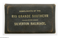Silver Railroad Pass 1892 An intricate and gorgeous silver ticket which was stamped and presented to Mrs. J.W. Gilluly...
