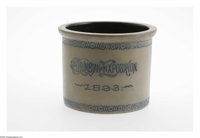 Exceedingly Rare Columbian Exposition Pottery Crock In 1893, the World's Columbian Exposition in Chicago brought an atte...