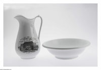 Impressive 1876 Ironstone Centennial Pitcher and Bowl Set.This Centennial was America's first venture into the world of...
