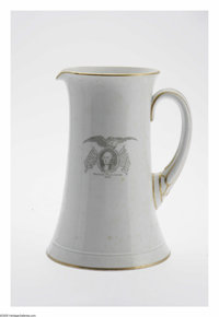 George Washington 1876 Centennial Spode Pitcher was made by W. T. Copeland & Sons. Standing at an impressive 11&...