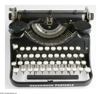 The Tennessee Williams Underwood Portable Typewriter on which Summer and Smoke and Cat on a Hot Tin Roof were writte