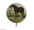Advertising:Pocket Mirrors & Pinbacks, Dr LeGear's Veterinary Remedy Advertising Pin in excellentcondition with its original backpaper intact with only a minorru...