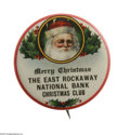 Advertising:Pocket Mirrors & Pinbacks, Merry Christmas Santa Advertising Pin This would certainly be awelcomed gift or stocking stuffer. Popular as an advertising...