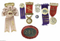 Advertising:Pocket Mirrors & Pinbacks, Exceptional Group of Firemen's Badges from the turn-of-the-century.Many are from a convention held in East Stroudsburg, PA,...