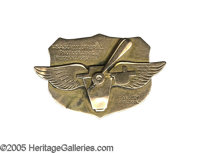 USA School of Photo Reconnaissance Pin in 10k gold. The school was housed at Langley Field and bears wings and a propell...