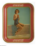 Advertising:Soda Items, 1933 Coca-Cola Tray Featuring Movie Star Francis Dee. Tough to find, especially in this condition, the tray was to promote D...