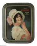 Advertising:Soda Items, 1914 Coca-Cola Serving Tray. Betty, the classic model for Coke, ispictured on this tray lithographed by the Passaic Metalwa...