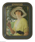 "Advertising:Soda Items, Coca-Cola Garden Girl Tray. The 1920s tray known as the ""Garden Girl"" incorporates a summer background scene along with two ..."