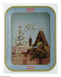 A Pair of French Version Coca-Cola Trays. In near mint condition, these trays are becoming increasingly popular among co...
