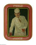 Advertising:Soda Items, Classic Coca-Cola Trays. Lithographed in Coshocton, Ohio, by the American Art Works, these two trays are classic examples of...