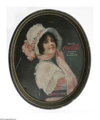 """Betty 1914 Coca-Cola Serving Trays here offered in both forms. The rectangular tray is the standard 10.5"""" x 13.25&q..."""