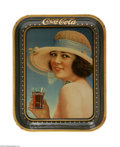 Advertising:Soda Items, The Summer Girl 1921 Coca-Cola Serving Tray is perhaps one of the most appealing serving trays made for the Coca-Cola Co. Co...