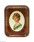Advertising:Soda Items, Haskell Coffin Hires Girl Advertising Tray Haskell Coffin became known for his illustrations picturing the American Beauty, ...