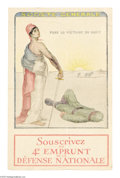"""Military & Patriotic:WWI, Societe Generale-Marianne French Poster 16"""" x 11"""" Artist: WilliamMalherbe. Printed by the Defense Nationale. This small Fre..."""