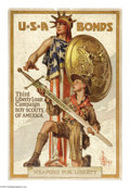 "Military & Patriotic:WWI, Weapons for Liberty-Boy Scouts of America (Lot of 2) 30"" x 20""Artist: J.C. Leyendecker. This poster is highly prized by c...(Total: 2 )"