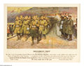 "Military & Patriotic:WWI, Doughboys First (Lot of 2) 12"" x 15"" Artist: Frank Schoonover. Thisposter is a lithographic version of an actual painting... (Total: 2)"