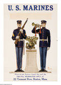 """Military & Patriotic:WWI, U.S. Marines-""""Three In One Service"""" (Lot of 3) 27"""" x 18"""" Artist:unsigned and Leyendecker. This lot features three posters...(Total: 3 )"""