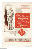 """Military & Patriotic:WWI, To The Folks Back Home 30""""x 20"""" Artist: C. Le Roy Baldridge.Printed for the fifth and final Liberty Loan, known as the Vi..."""