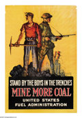 """Military & Patriotic:WWI, Stand by the Boys in the Trenches (Lot of 2) 19""""x13"""" Artist: WalterWhitehead. Another poster in the """"strike a pose"""" famil... (Total: 2items)"""