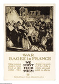 "Military & Patriotic:WWI, War Rages In France (Lot of 3) 30"" x 20"" Artist:Townsend. Printedfor the U.S. Food Administration. Reminiscent of a Ralei... (Total:3 )"