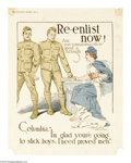 Military & Patriotic:WWI, Re-enlistment Group (Lot of 8) This lot includes eight posterswhich promoted re-enlistment after the war was over. This l...(Total: 8 items)