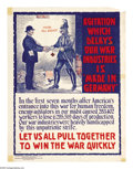 Military & Patriotic:WWI, National Association of Manufacturers Lot (Lot of 10) This lotfeatures 10 posters printed for the National Association of...(Total: 10 items)