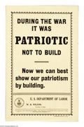 Military & Patriotic:WWI, Deptartment of Labor Group (Lot of 21) This lot features 21handbill size flyers which were issued after the war by the De...(Total: 21 )