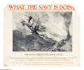 Military & Patriotic:WWI, What the Navy is Doing Lot (Lot of 10) This lot includes 10 postersthat feature news about the United States Navy. They a... (Total:10 items)