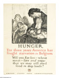 "Military & Patriotic:WWI, Hunger 29"" x 21"" Artist: Henry Raleigh. Printed for the U.S. FoodAdministration. Another fantastic poster by Henry Raleig..."