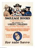"Military & Patriotic:WWI, Smileage Books. 30"" x 20"" Artist: unsigned. Printed for the UnitedStates Government. This rare poster encourages Americans ..."