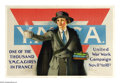 """Military & Patriotic:WWI, One of the Thousand Y.M.C.A. Girls in France. 27"""" x 42"""" Artist:Neysa McMein. Printed for the Y.M.C.A., this poster is consi..."""