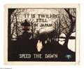 """Military & Patriotic:WWI, It Is Twilight Still In Japan 23"""" x 28"""" Artist:unsigned. Printedfor the Y.W.C.A., with no other markings than Carey Lith, N..."""