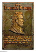 """Military & Patriotic:WWI, Buy Liberty Bonds (Lincoln) (Lot of 3) 30"""" x 20"""" Artist: unsigned.Printed for the Third Liberty Loan. This poster features ...(Total: 3 items)"""